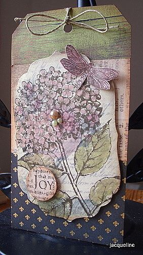 Jacqueline's Craft Nest: really great vintage collage style cards.  I can use my SU! stamps for these....love her blog.