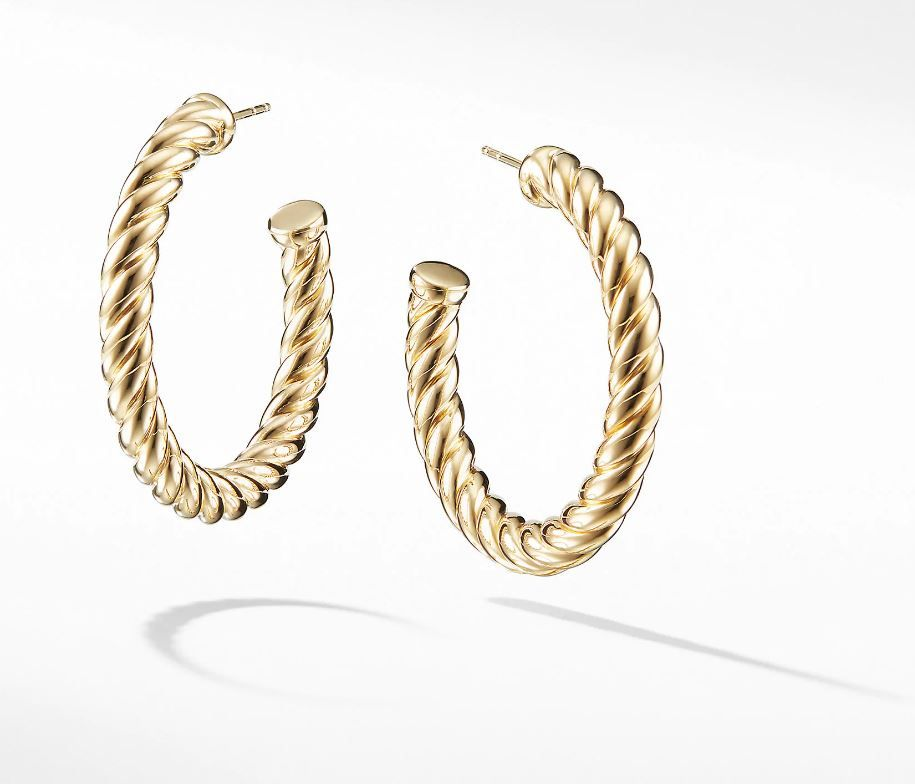 500c259e3 Cable Classics Hoop Earrings in 18K Gold in 2019 | Ashley Graham's ...
