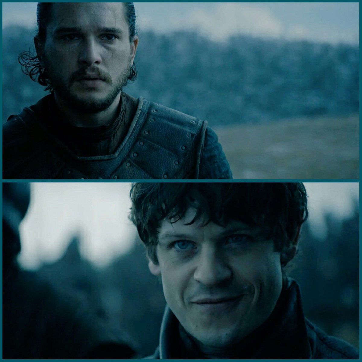 Battle of the bastards on Game of Thrones. Jon Snow vs. Ramsay Bolton! Most epic fight on the show ever.