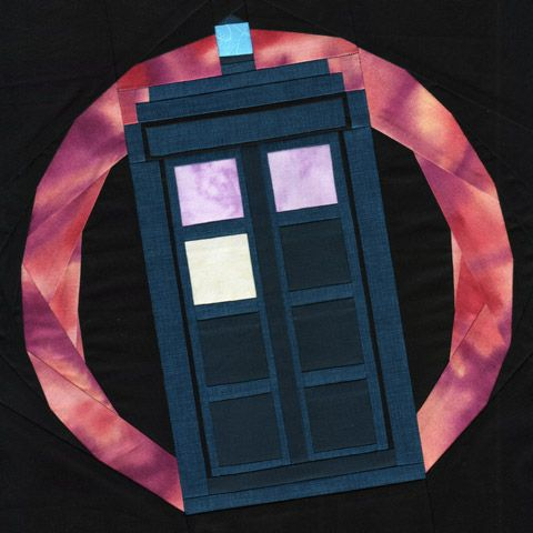 5 Free Paper Pieced Block Patterns Doctor Who Quilt