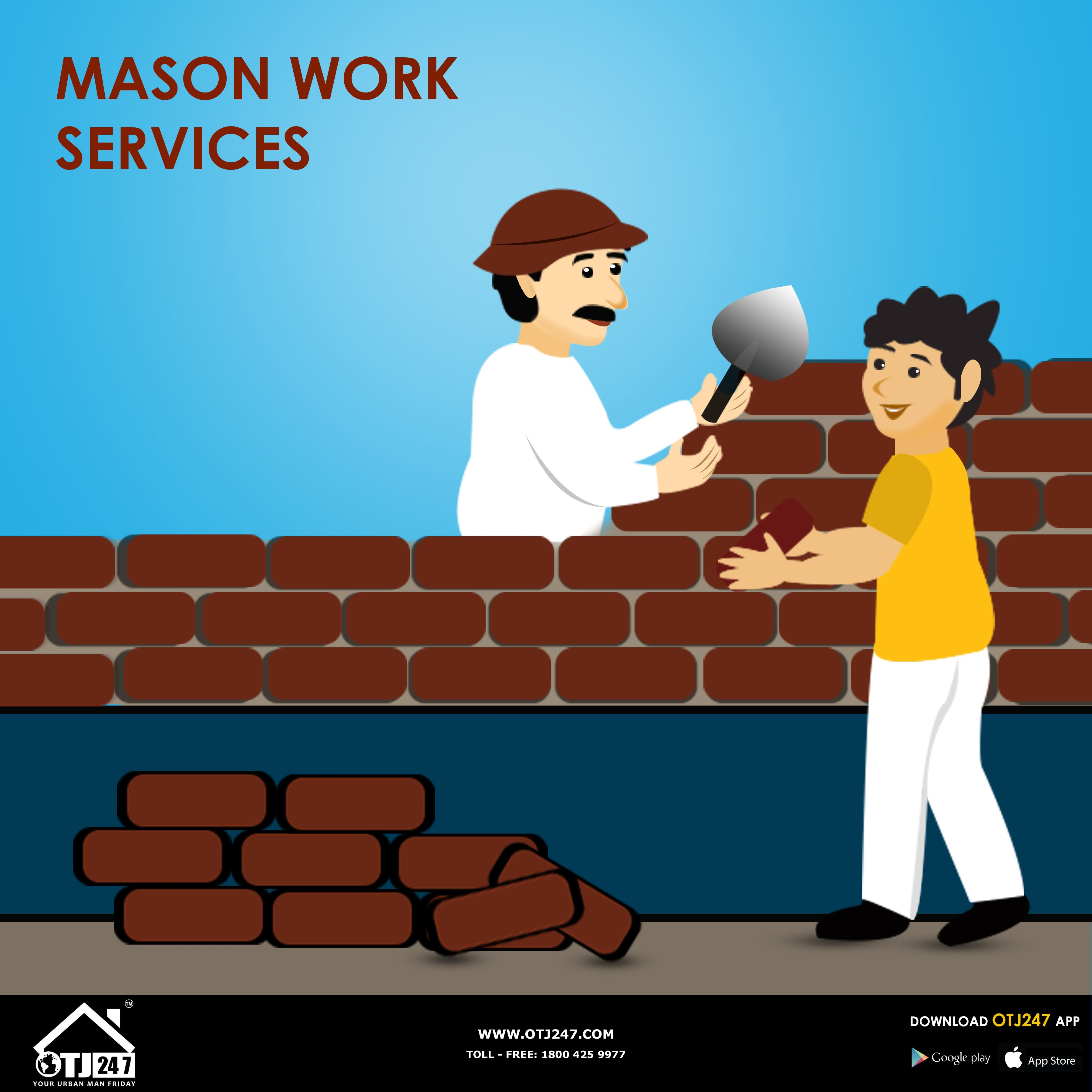 Mason Work Services In Bangalore. Seepage Painting