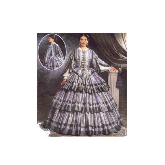 Civil War Dress Martha McCain Fashion Historian Simplicity 9761 ...