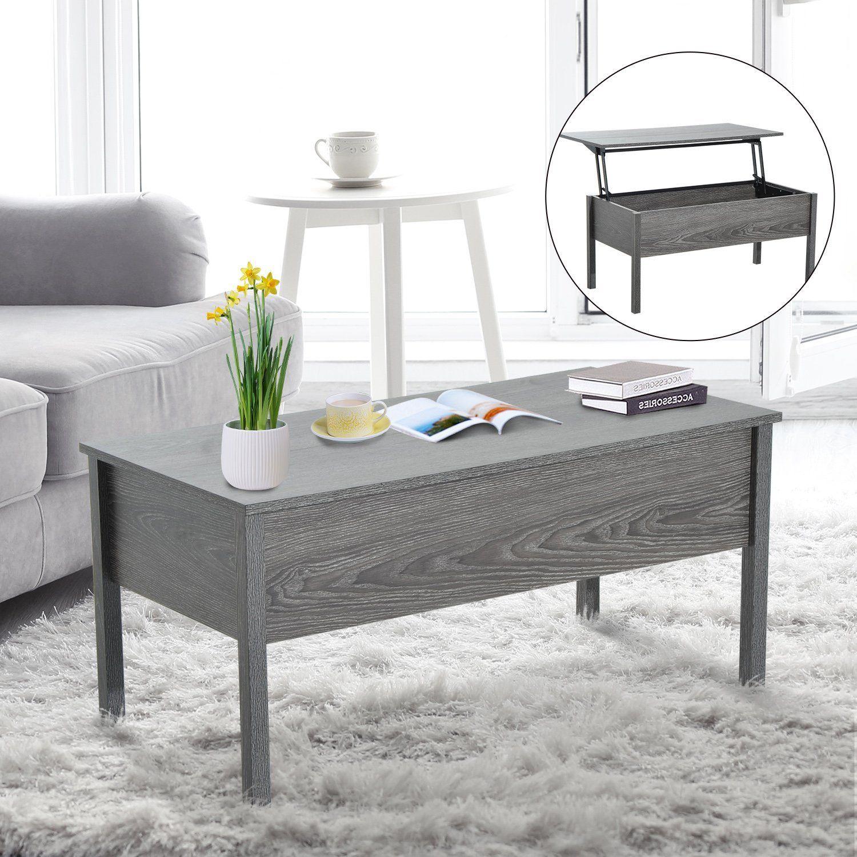 Amazonsmile Homcom Lift Top Storage Coffee Table Grey Home Kitchen Coffee Table Desk Coffee Table Grey Coffee Table [ 1500 x 1500 Pixel ]