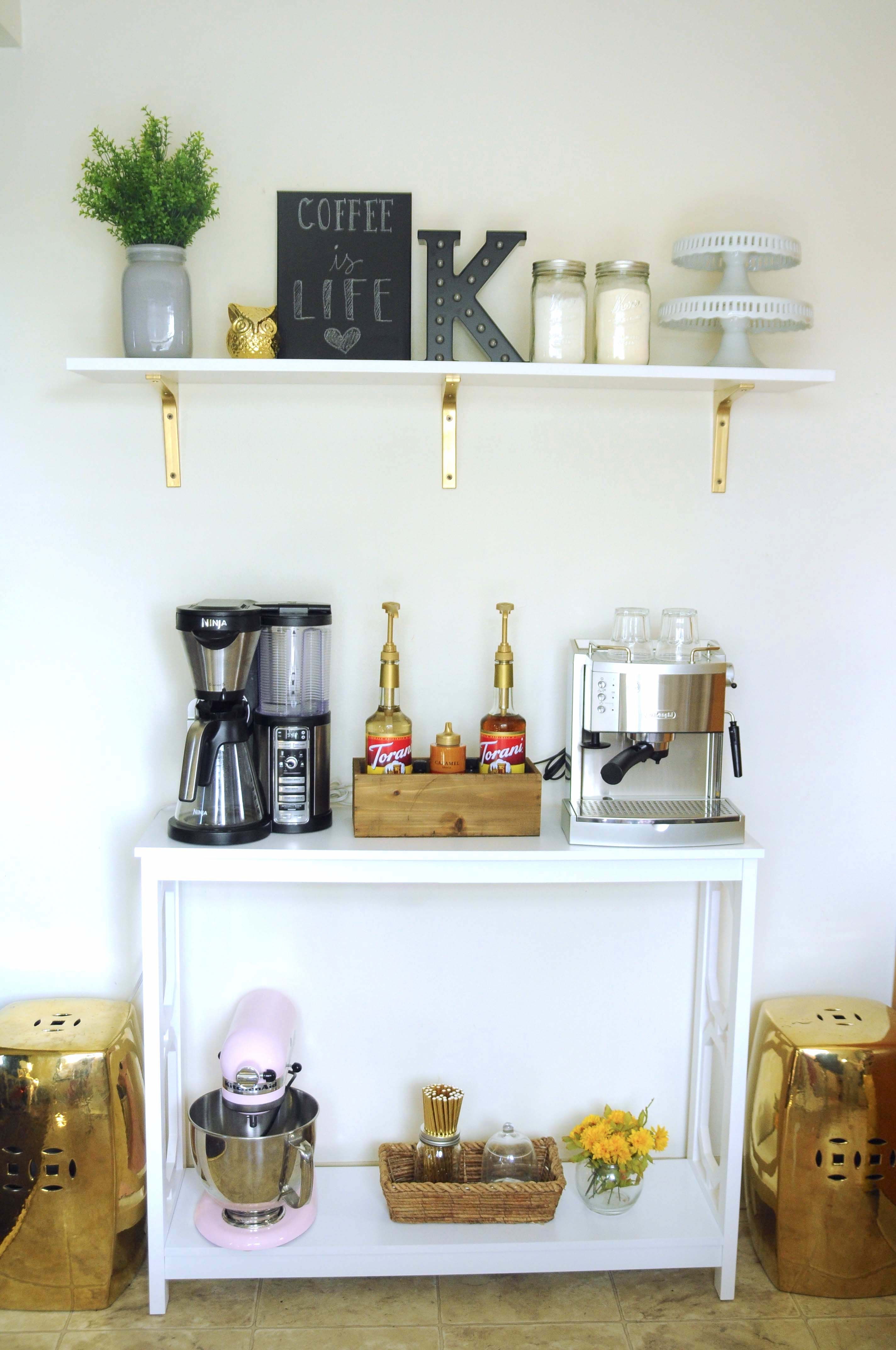One of my interior design projects in my home, coffee bar, interior ...