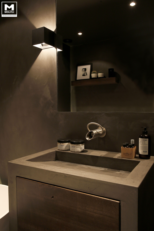 betonstuc badkamer bath pinterest projects