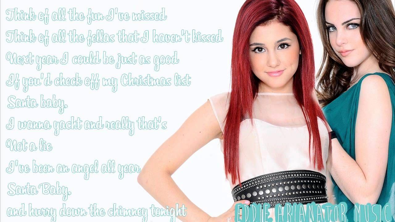Ariana Grande   Santa Baby Ft. Elizabeth Gillies Lyrics ...