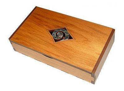Wooden Keepsake Box Hinged Trinket Box With Paua Design Shop New