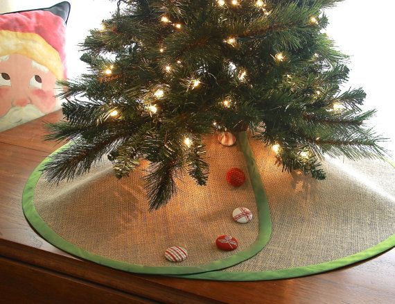 Linen Pencil Christmas Tree Skirt Tabletop Christmas Tree Etsy Pencil Christmas Tree Large Christmas Tree Christmas Tree Skirt