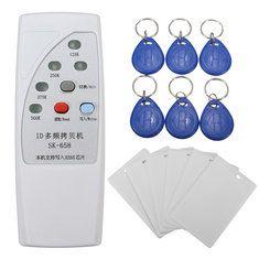 DANIU SK-658 13шт 125KHz RFID Устройство чтения ID карт Копировальный аппарат с 6 комплектами карт / тэгов