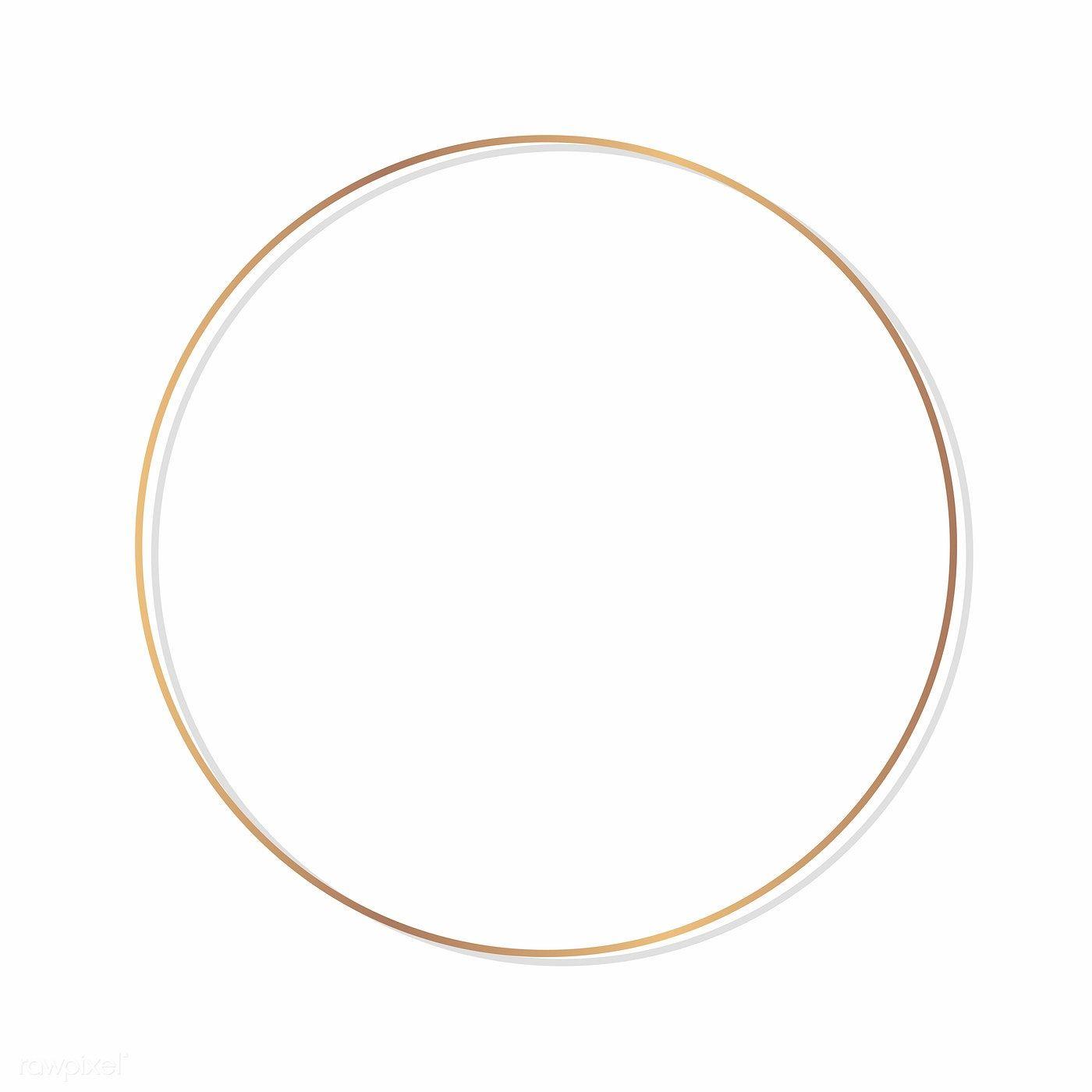 Download Premium Vector Of Circle Round Frame On A Blank Background Vector Blank Background Round Frame Frame