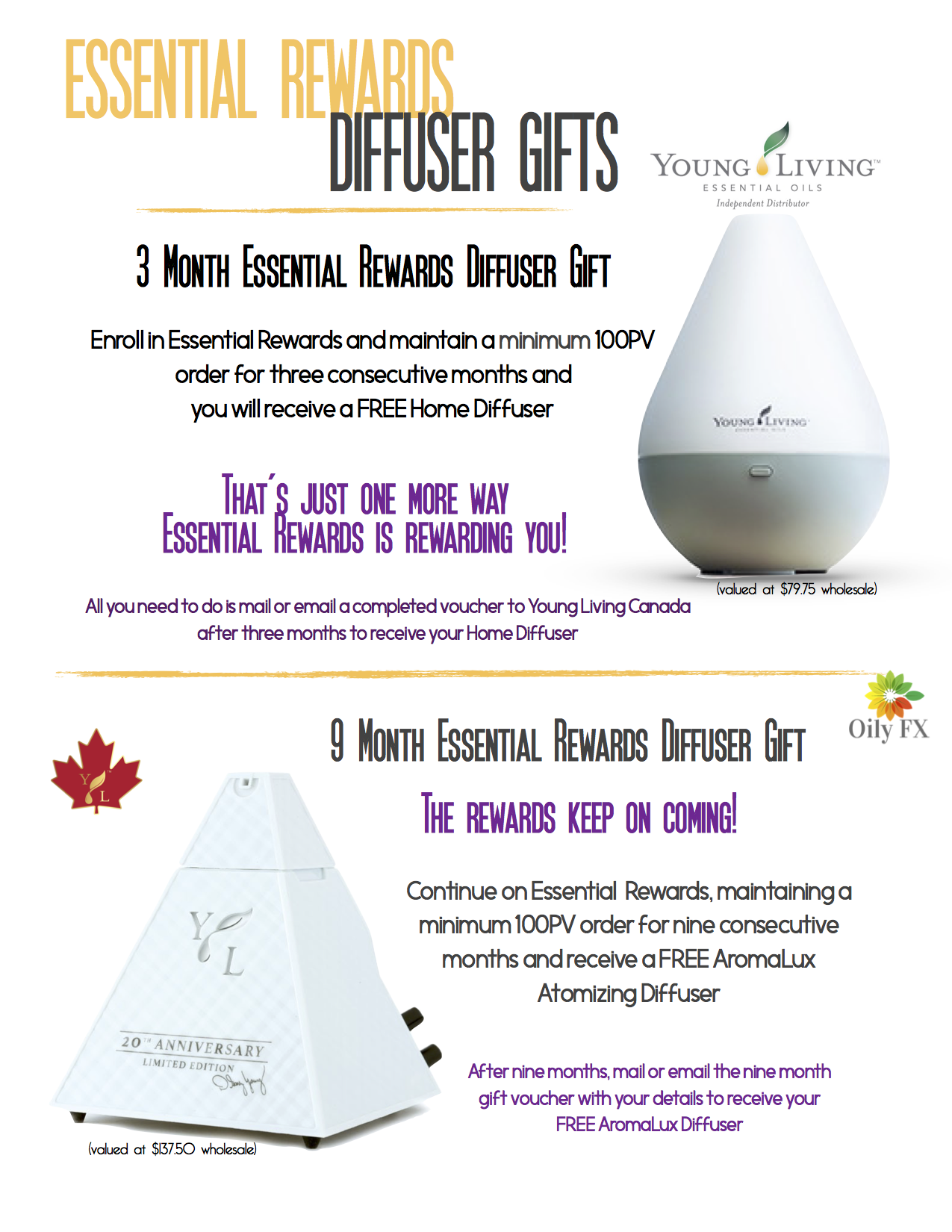 Essential reward diffuser yl business pinterest diffusers Edens garden essential oils coupon