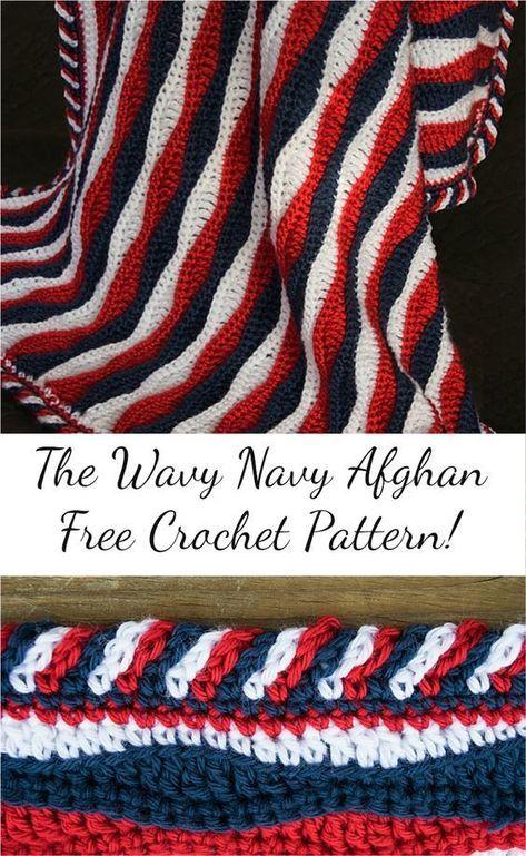 Free Pattern The Wavy Navy Crochet Nafghan Visit Pattern Site