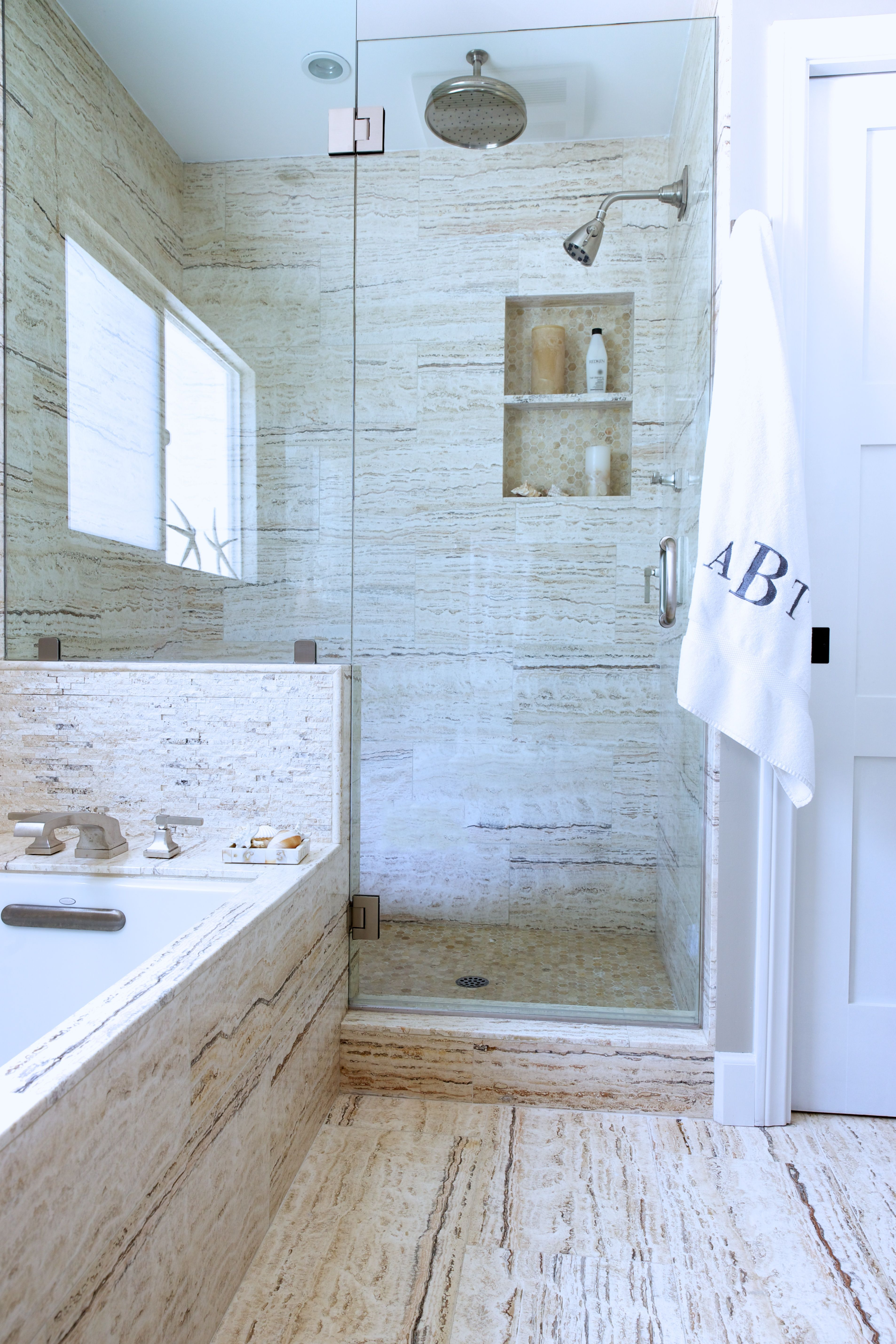 Gilmore Design Studio Malibu Beach House Master Bathroom Shower ...