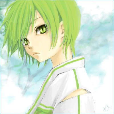 anime boy base #greenhair
