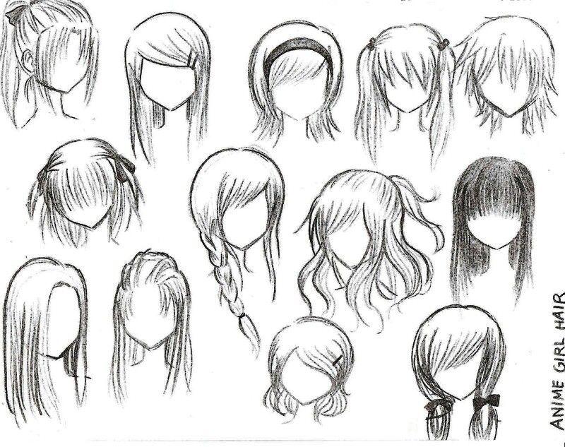 Cabellos De Chica Mangas Como Dibujar Animes Dibujos De Peinados Como Dibujar Manga