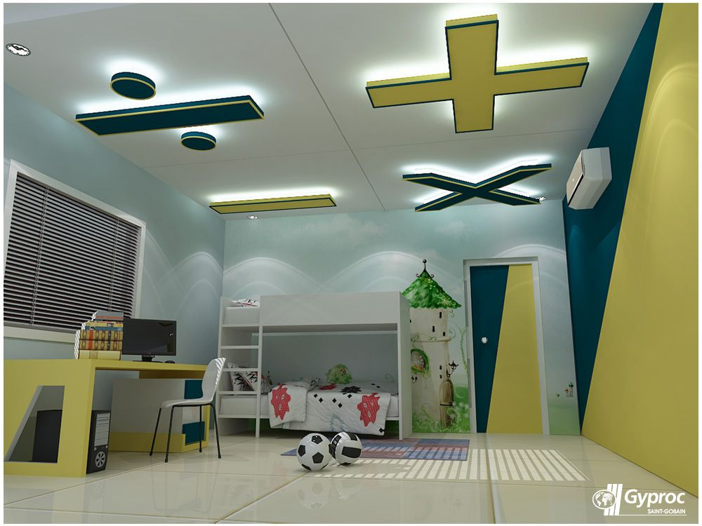 Saint Gobain Gyproc Offers An Innovative Residential Ceiling Design Ideas  For Various Room Such As Living Room, Bed Room, Kids Room And Other Spaces.