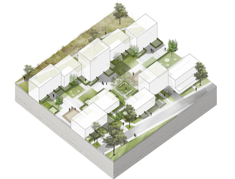Wohnquartier an der Ratoldstraße - 2. Preis — Teamwerk Architekten #architektonischepräsentation
