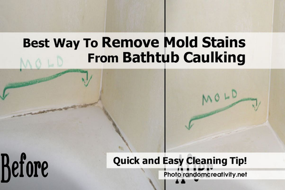 Bathtub Caulking Is A Common Place For Stains And Once They Set In - Best way to get rid of mold in shower grout