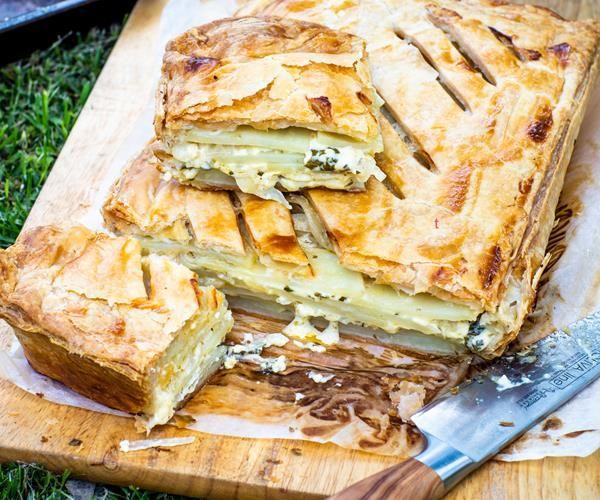 Potato, herb and crème fraîche pie | Recipe | Recipes ...