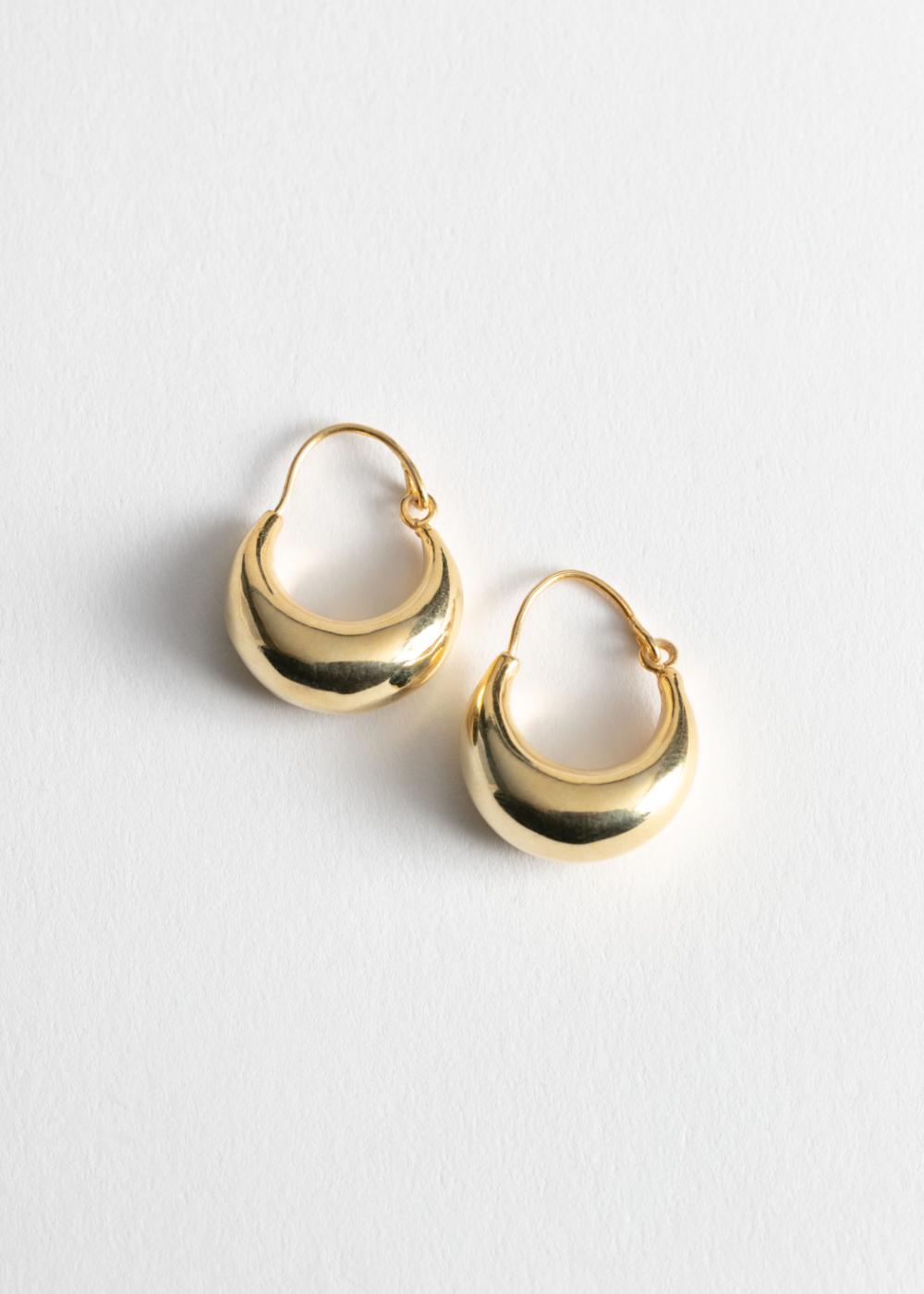 Droplet Hoop Earrings Gold Hoop Earrings Diamond Earrings Studs Gold Earrings