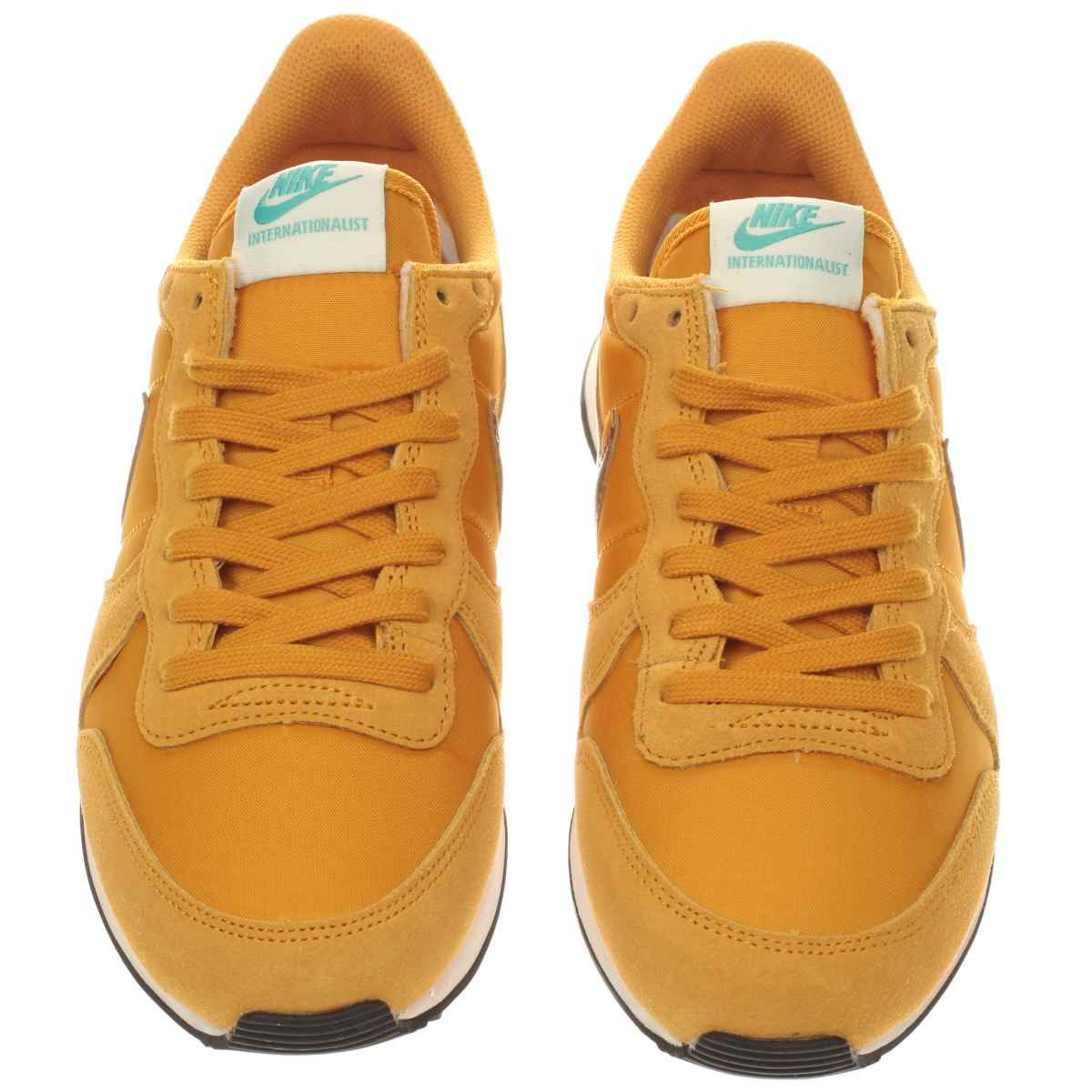 lowest price 68c52 2221d womens nike yellow internationalist trainers