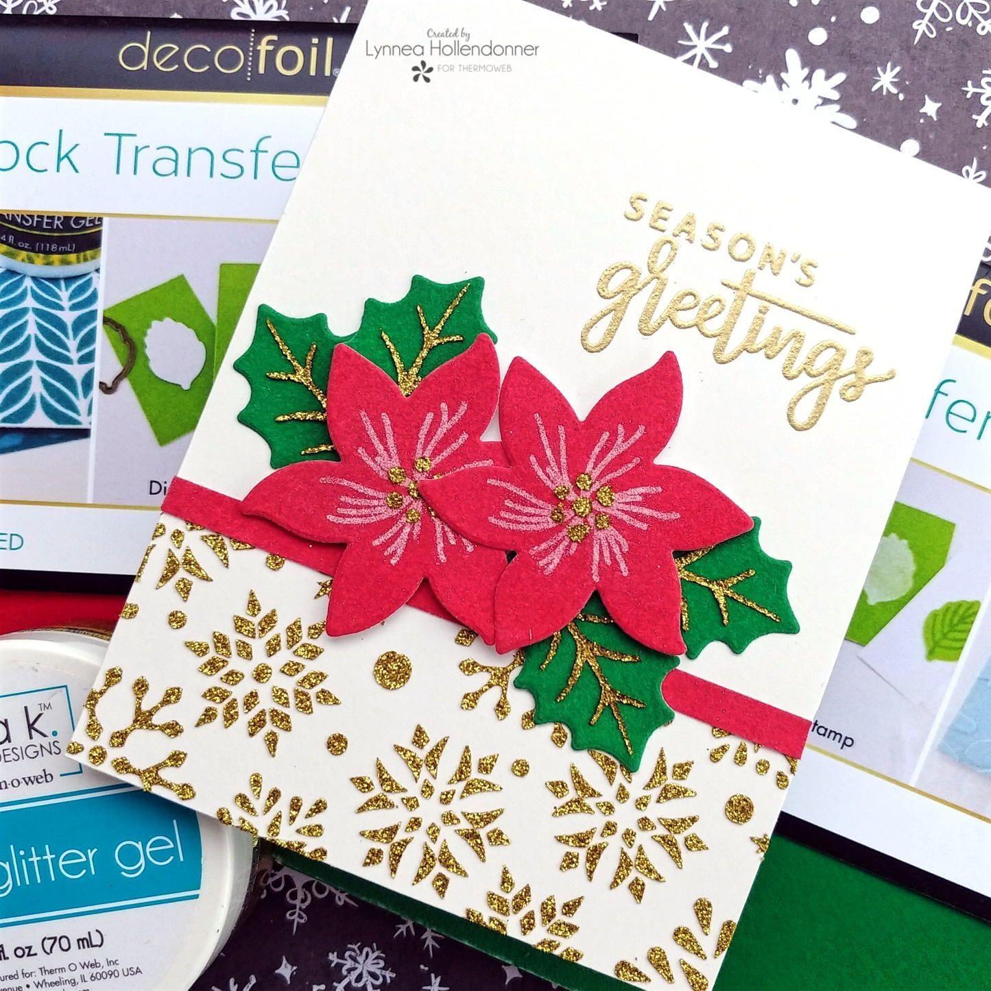 Homemade Poinsettia Christmas Card Christmas Note Cards Christmas Card Design Christmas Cards