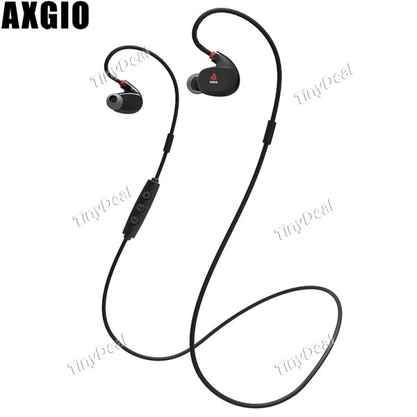 Axgio Spirit Sport Wireless Bluetooth 4.1 Headset IPX4 12H Playing Time Sound Isolating w/ Mic f Smartphone E-436211