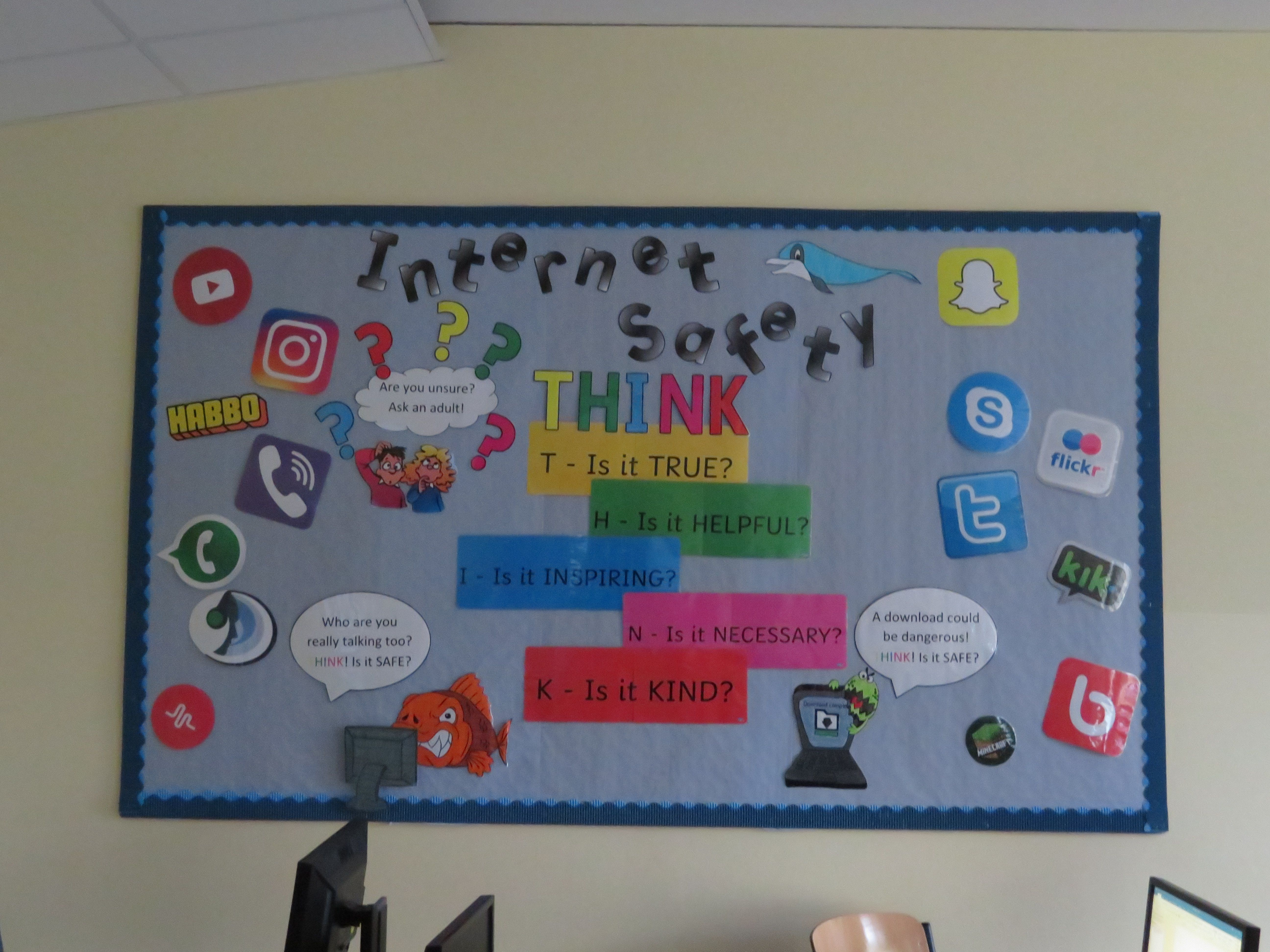 Internet Safety Display Board Ict Display Internet Safety Display Board