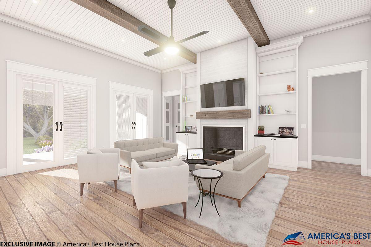 House Plan 041-00202 - Modern Farmhouse Plan: 3,076 Square ...