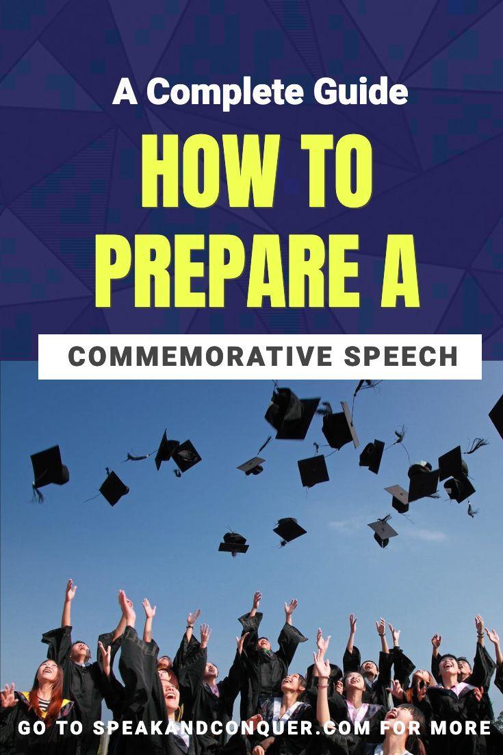 How To Prepare A Commemorative Speech? A ceremonial speech ...