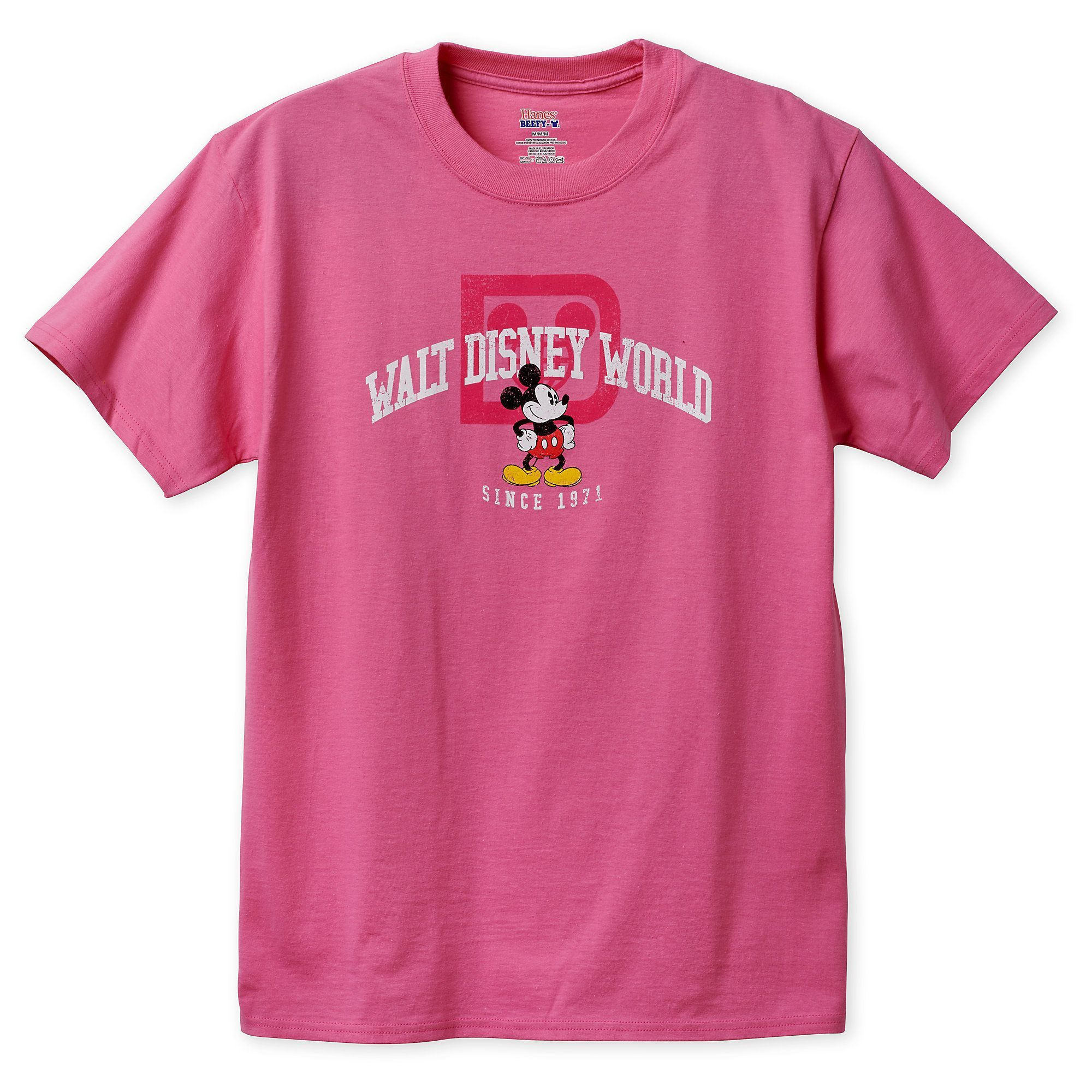 36724f3b Product Image of Mickey Mouse T-Shirt for Adults - Walt Disney World - Pink  # 1