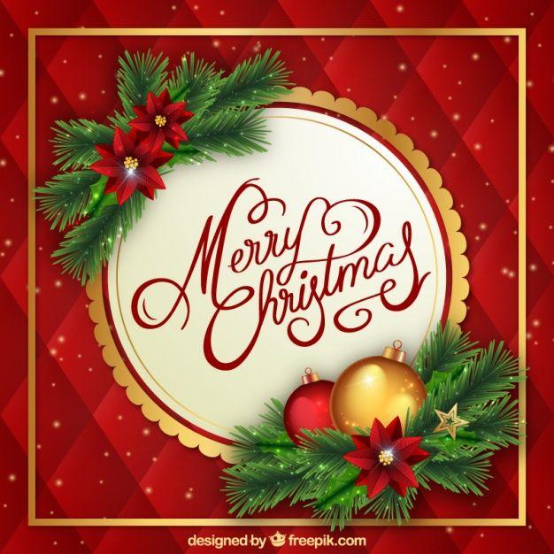 Fundo Do Natal Com Flores E Enfeites Packaging Pinterest