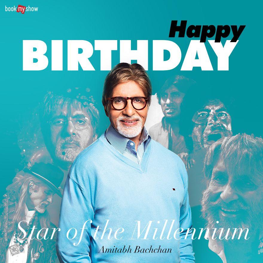 Amitabh Bachchan - Birthday | Birthday flyer, Happy birthday posters, Happy  birthday design