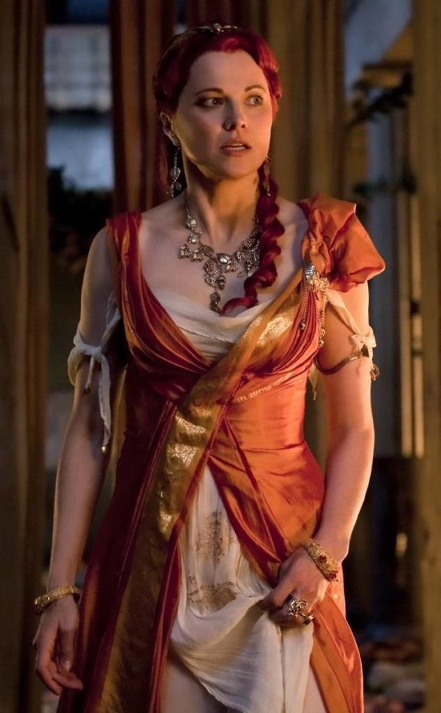 Lucy Lawless as Lucretia in 'Spartacus' (STARZ 2010-14)   Roman dress, Spartacus, Lucy lawless