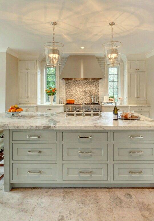 Houzz island color kitchen - Houzz cuisine ...