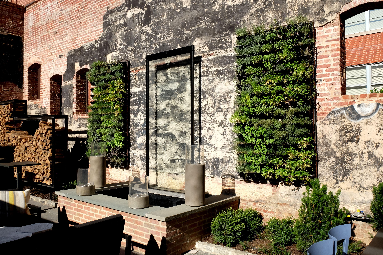 Living Walls Greenstreet Greenwall Installation At Restaurant And Bar, Gunther