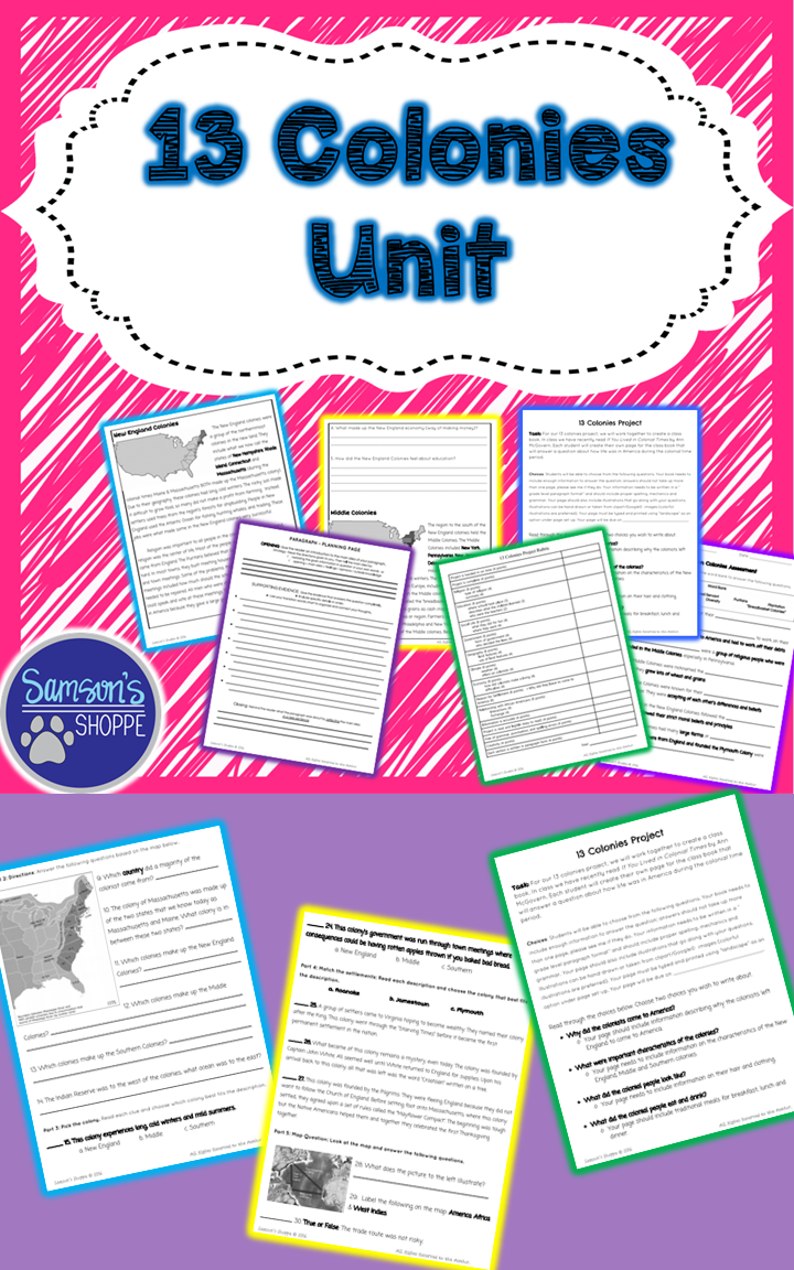 This Unit Includes Vocabulary Terms A Nonfiction Packet On The 3 Early Settlemen 13 Colonies Unit Social Studies Middle School Digital Learning Activities [ 1152 x 720 Pixel ]