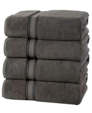 Lezeth Collection Super Soft Zero Twist Cotton Bath Towels 4 Pack