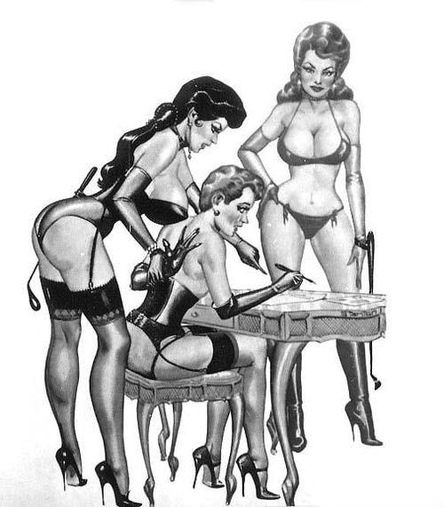 Forced feminization drawing