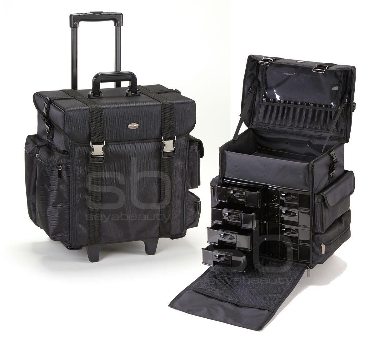 Professional Soft Sided Rolling Makeup Case W Drawers Only   Plus Free Shipping