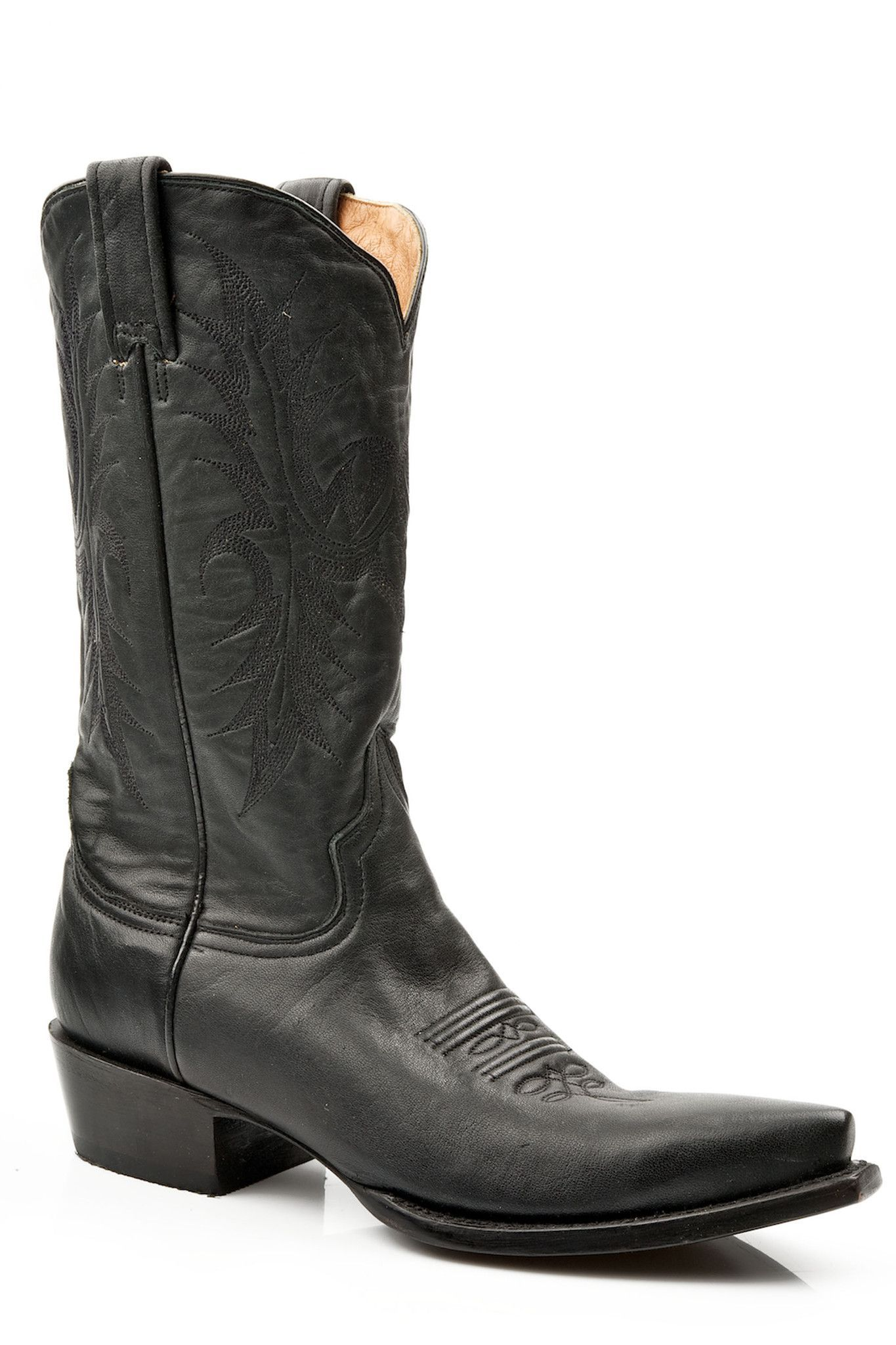 be31a54db00 Stetson Ladies Fashion Snip Toe Boots 12hand Burnished Ficcini Black ...