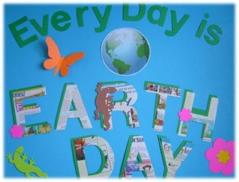 My Earth Day bulletin board for the month of April | Classroom ...