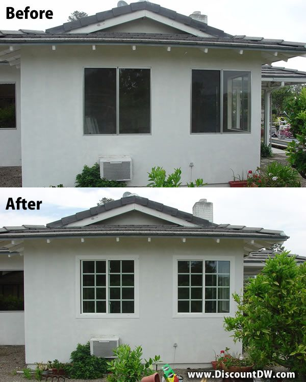 Mobile Home Replacement Doors Exterior: Before And After Aluminum Window To Vinyl Window