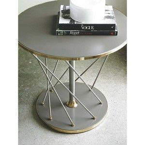Modern Metro Laquered Round Side Table