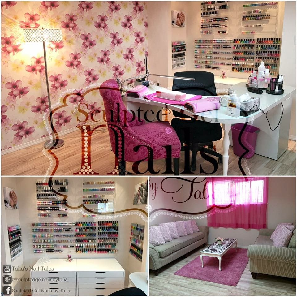 Home Nail Salon Decorating And Set Up Ideas