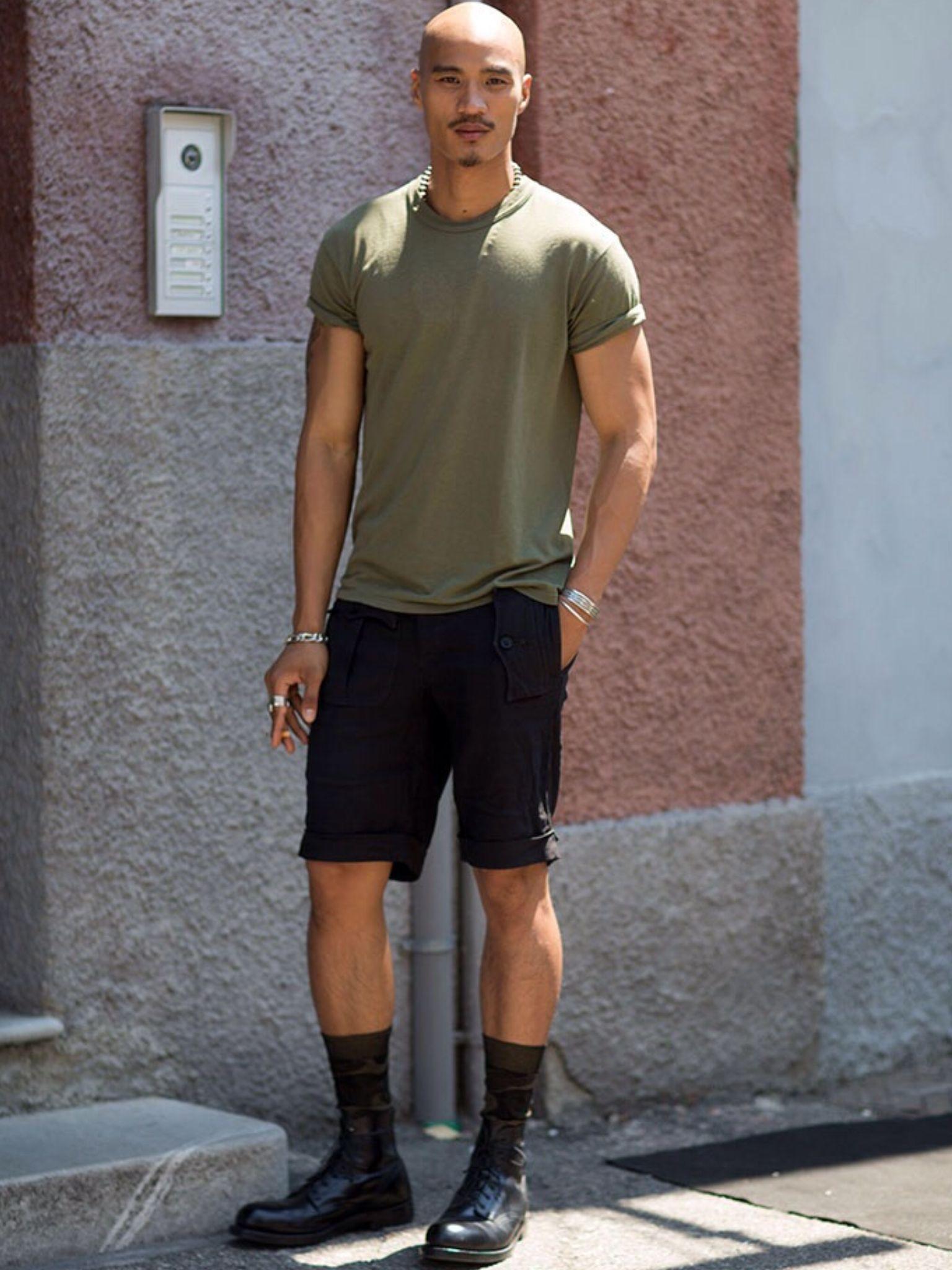 Long black shorts. High socks. | Men's Socks | Pinterest | Man ...