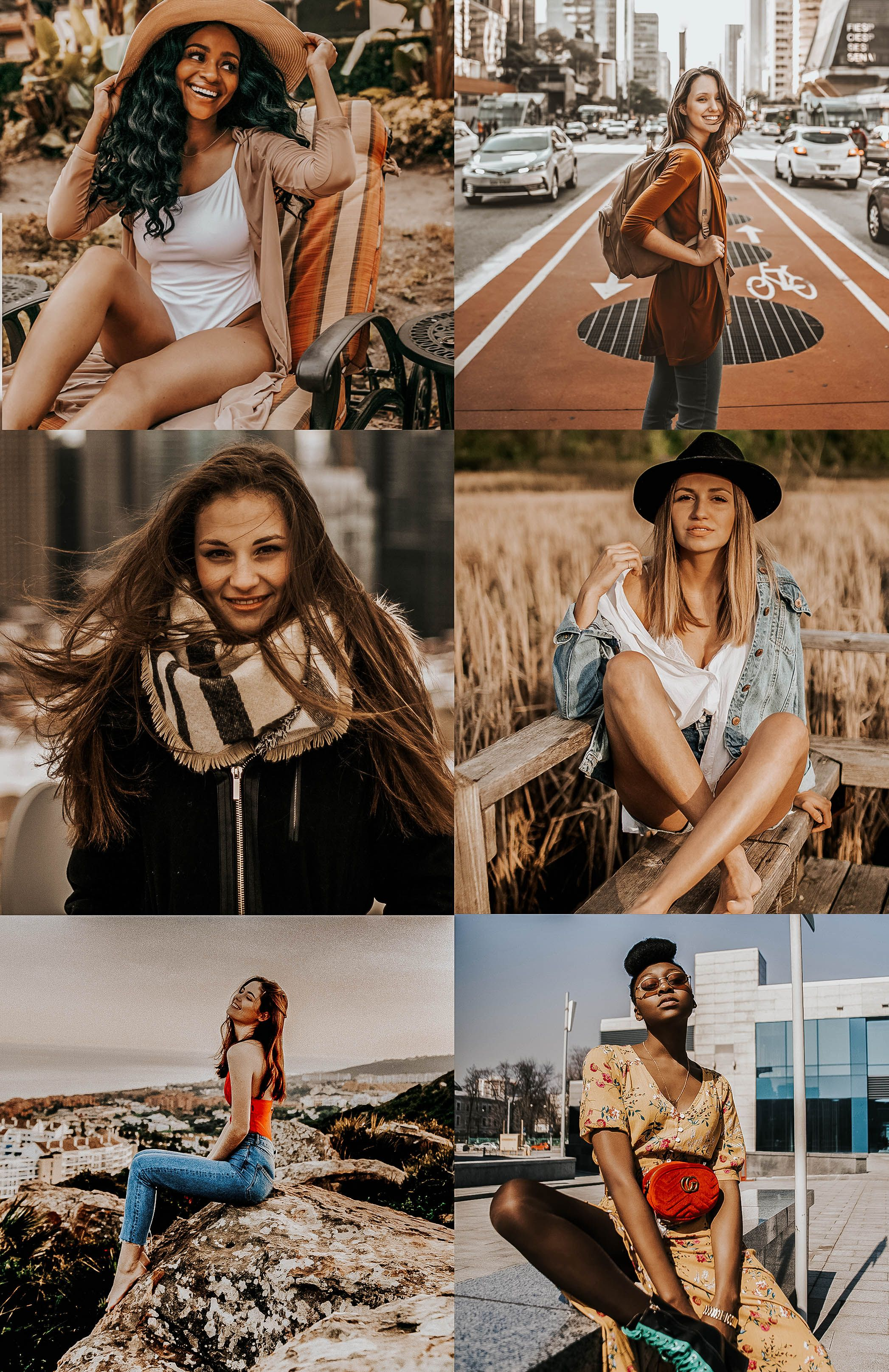 4 Mobile Lightroom Presets Airy and Warm Mobile Warm Lightroom Presets Instagram Blogger Presets