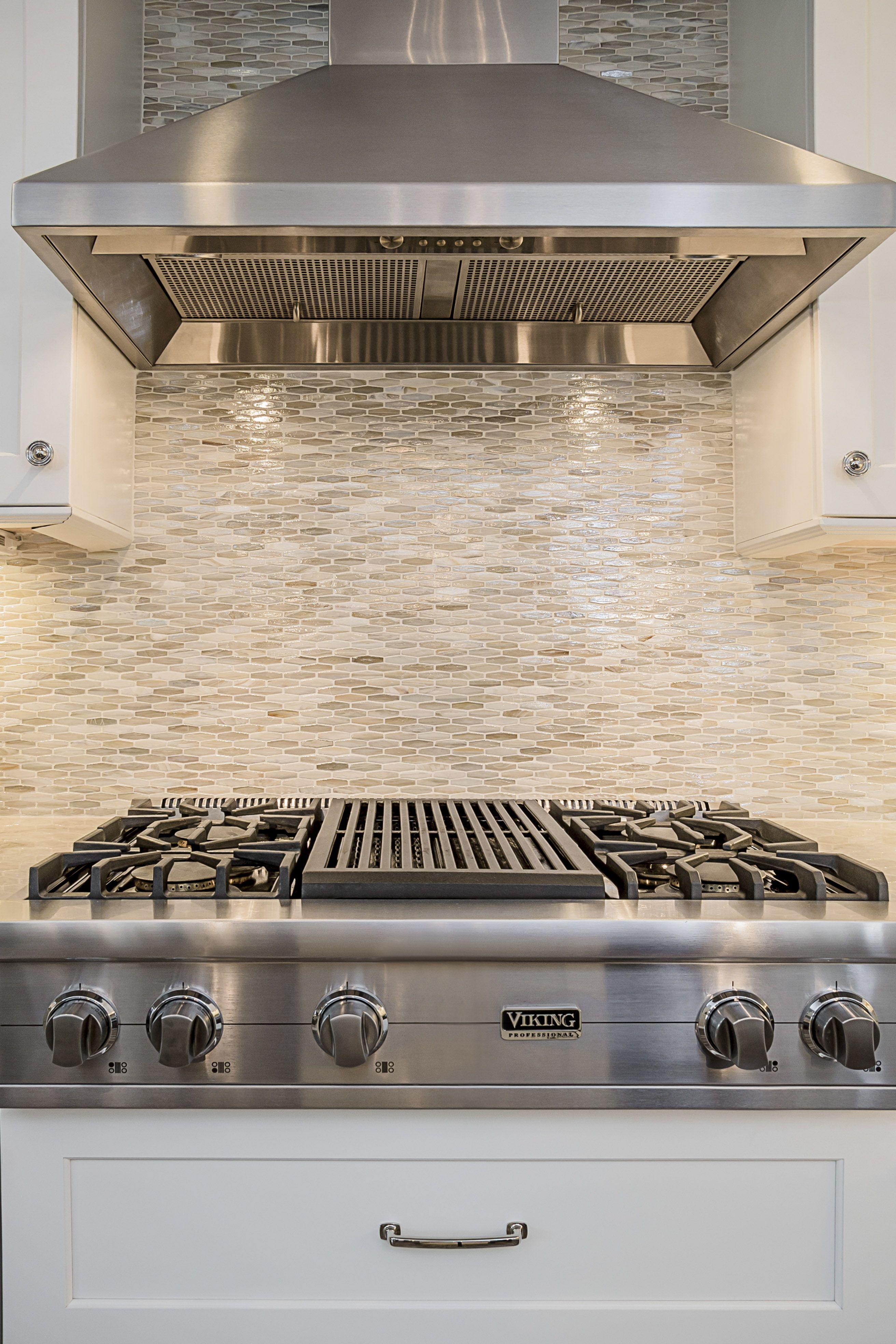 Viking Stainless Steel Hood. White Grey Kitchen. Kitchen Remodel ...