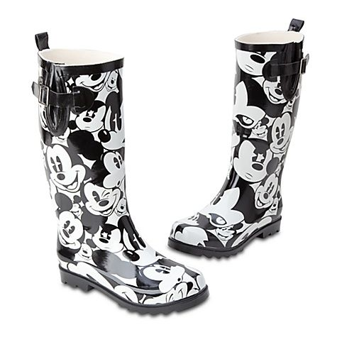 Mickey Mouse Rain Boots for Women--I SERIOUSLY want these. If ...
