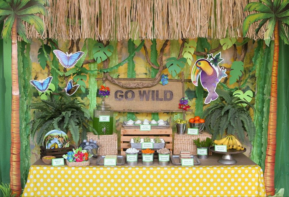 Jungle Party Ideas Animal Party Ideas at Birthday in a